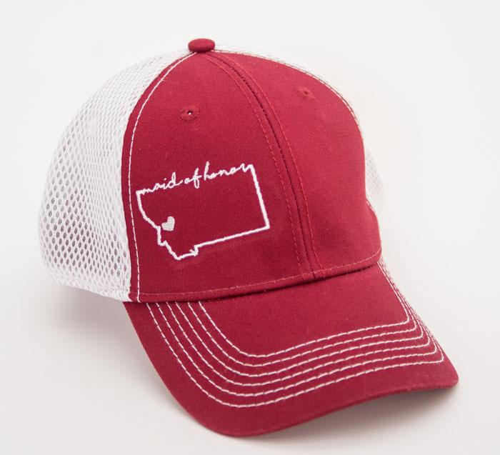 Montana Maid of Honor Embroidered Hats by Montana Mrs. - MT Brand ... 996f9a34e09