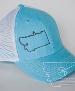 Montana Outline Embroidered Hat View 1