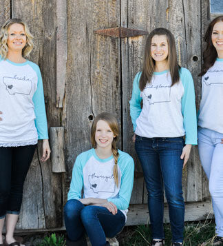 Montana Mrs. Bridal Party Tees
