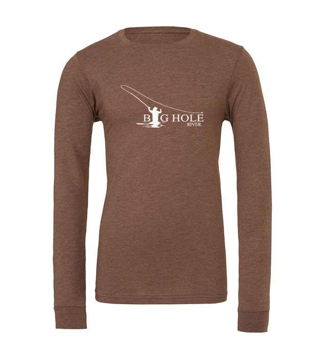 Big Hole River Fly Fishing Long Sleeve Tee - MT Brand Apparel