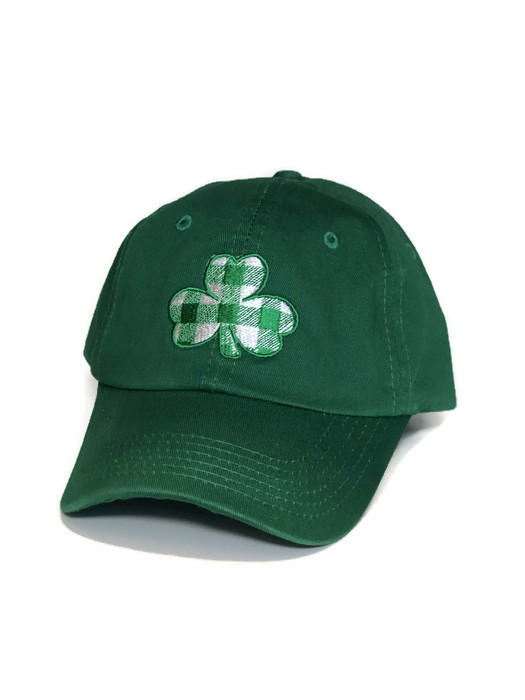 b1d97a0bcb371 Plaid Lucky Shamrock Hat - Youth - MT Brand Apparel