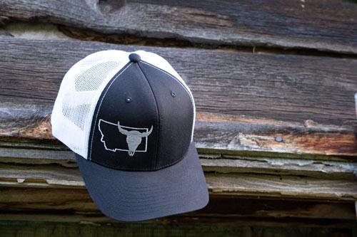 Montana Buffalo Skull Hat by MT Brand Apparel
