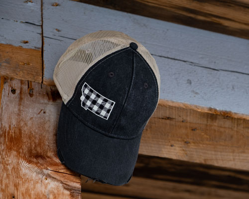 MT Brand Apparel - Montana Plaid Hat
